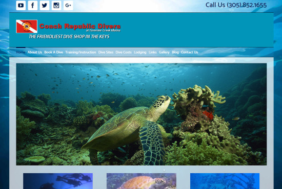 Dive Shop Web Design - Conch Republic Divers