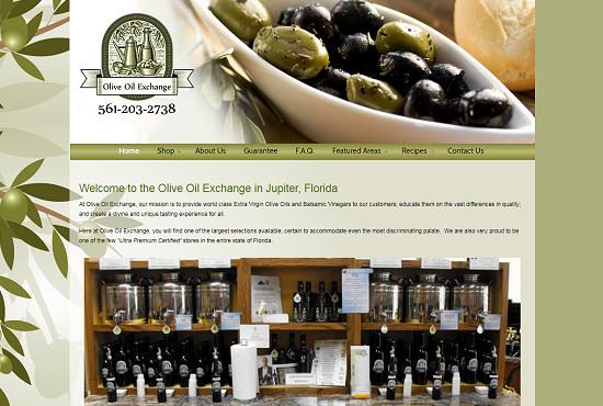 Restaurant Web Design - Olive Oil Exchange Boutique